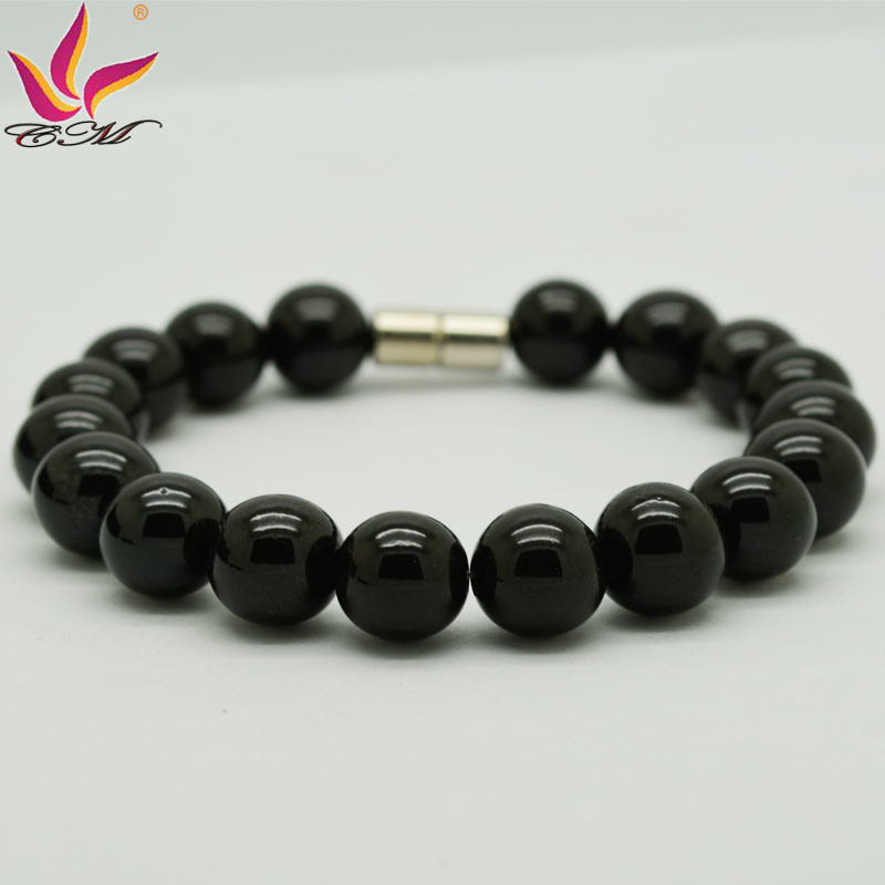 Classic Fashion Back Germanium Power Beads Bracelet Jewelry