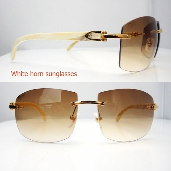 White Horn Top Quality Sunglasse / Unisex Vogue Sunglasses for Men and Woemn