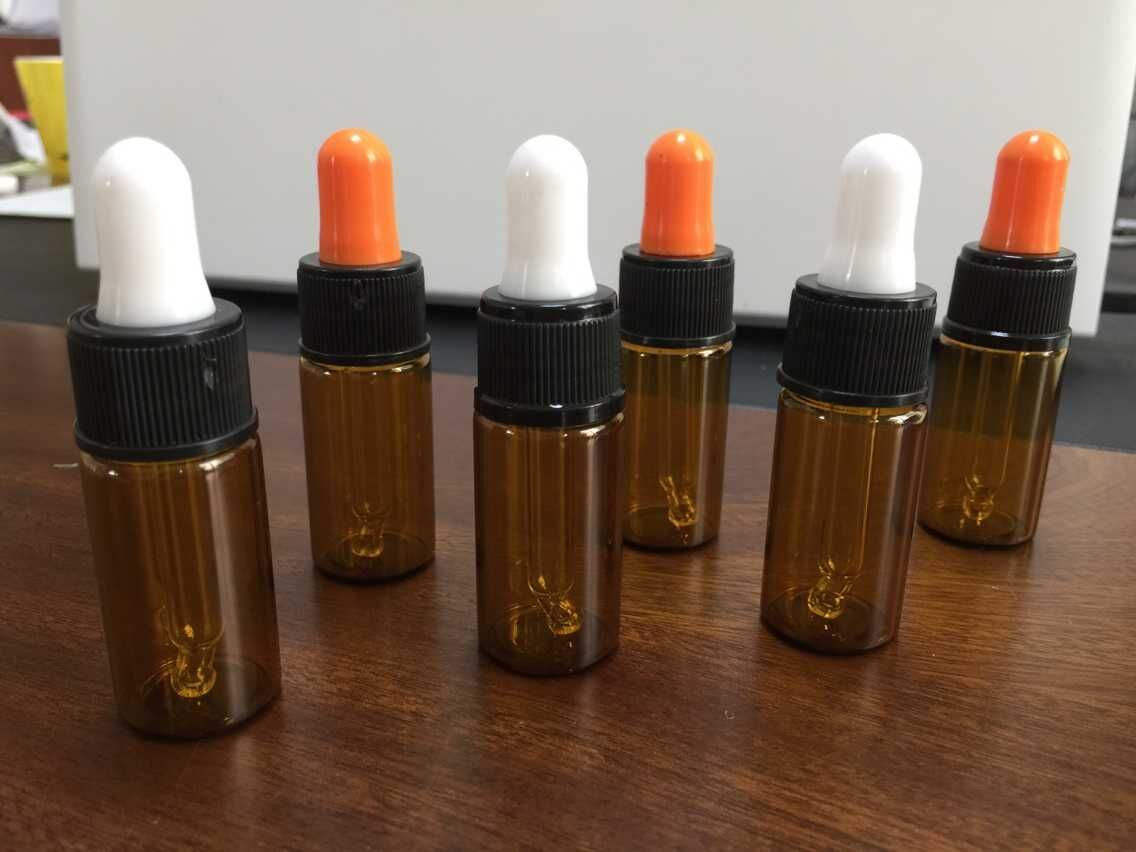 High Quality Amber Glass Vial with Droper for Cosmetic Packing