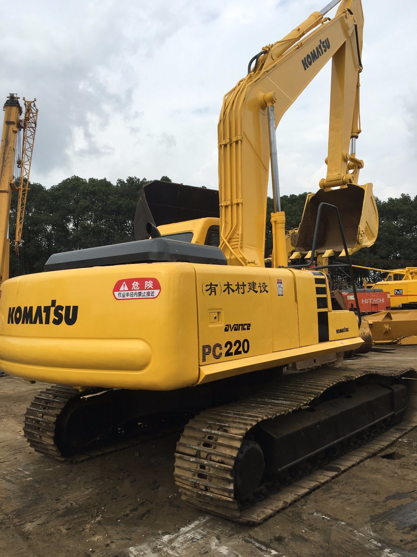 Used Good Performance Komatsu PC220-6 Crawler hydraulic Excavator for Sale