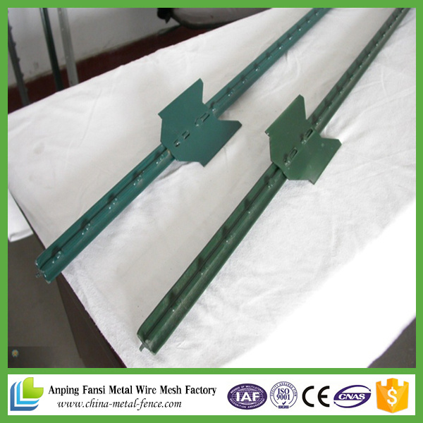 Green Painted T Post for American Market