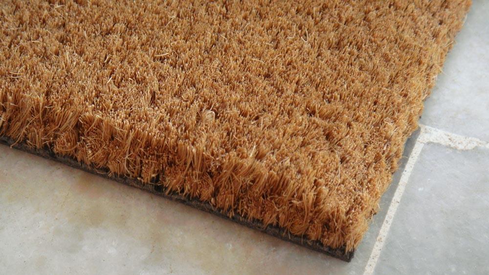 Gold Brown Natural Fiber Coco Coir Coconut Palm Fiber Carpet Rugs Matting Runner Rolls Flooring