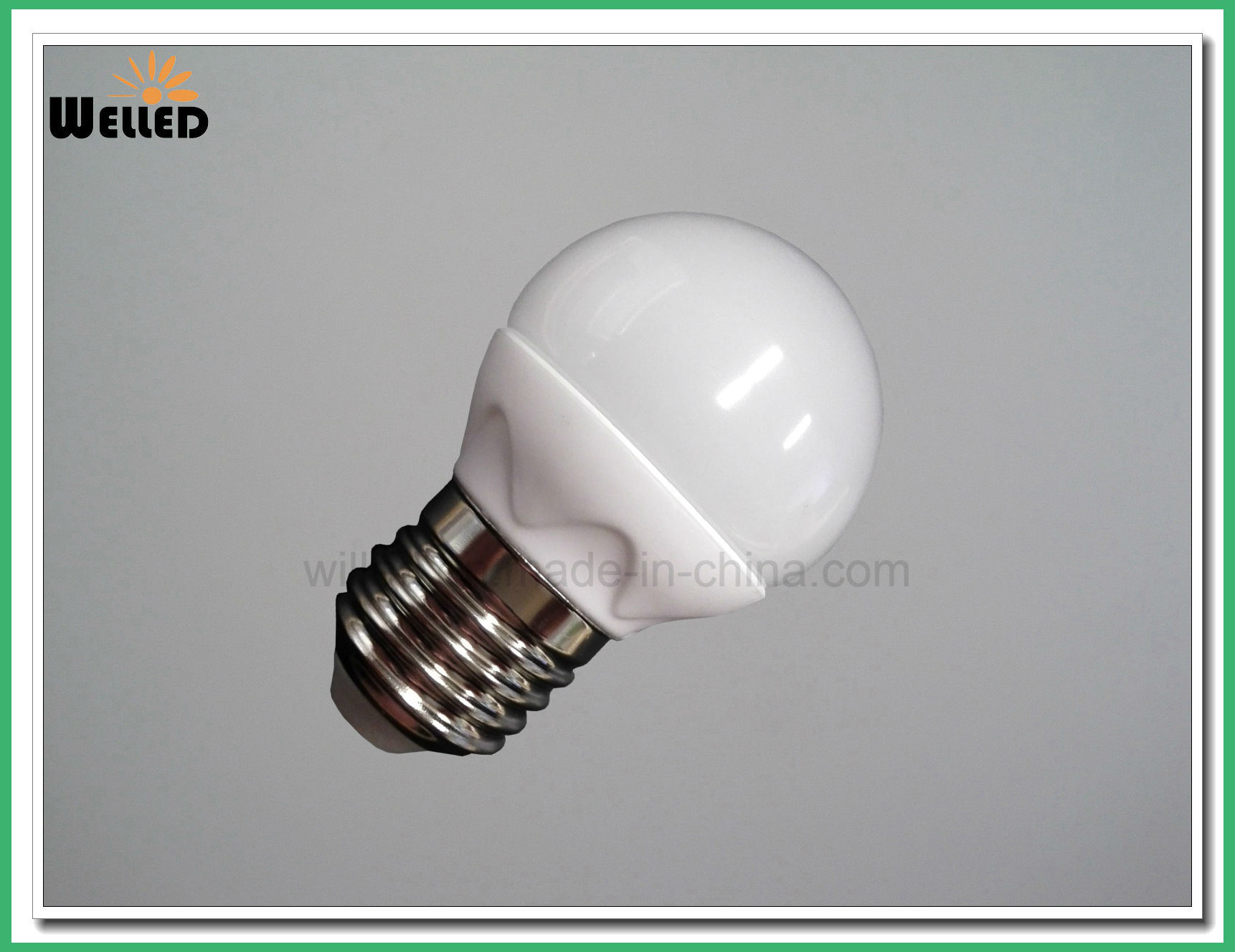 3W 5W Dimmable G45 Globe LED Bulb Light 400lm E27 B22 with Ceramic Housing