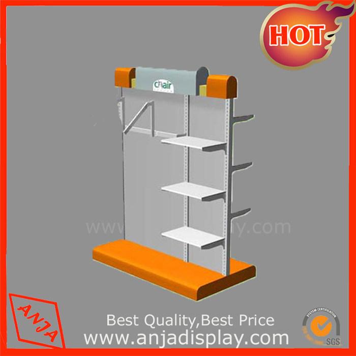 Metal Garment Display Rack Store Shelving Fixtures for Retail Stores