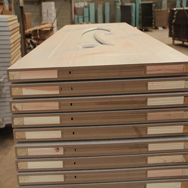 Economical Interior Wooden Rounded MDF PVC Door (SC-P142)