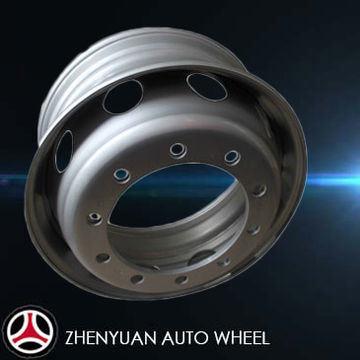 Truck/Bus Tubeless Steel Wheel Rim/Hub, 22.5X9.00/8.25 Zhenyuan Factory