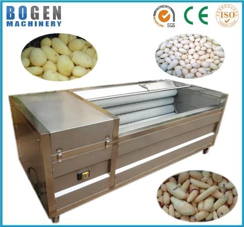 High Efficiency and High Capacity Brush Type Potato Peeler