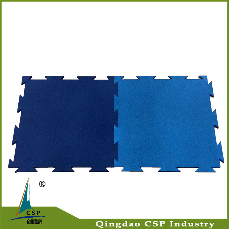 Puzzle Crossfit Gym Floor Interlock Rubber Mat