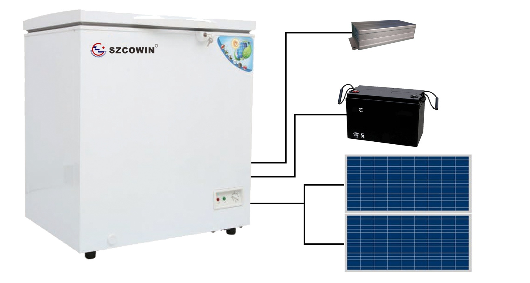 93L Solar Fridge System (CSF-102JA-300)