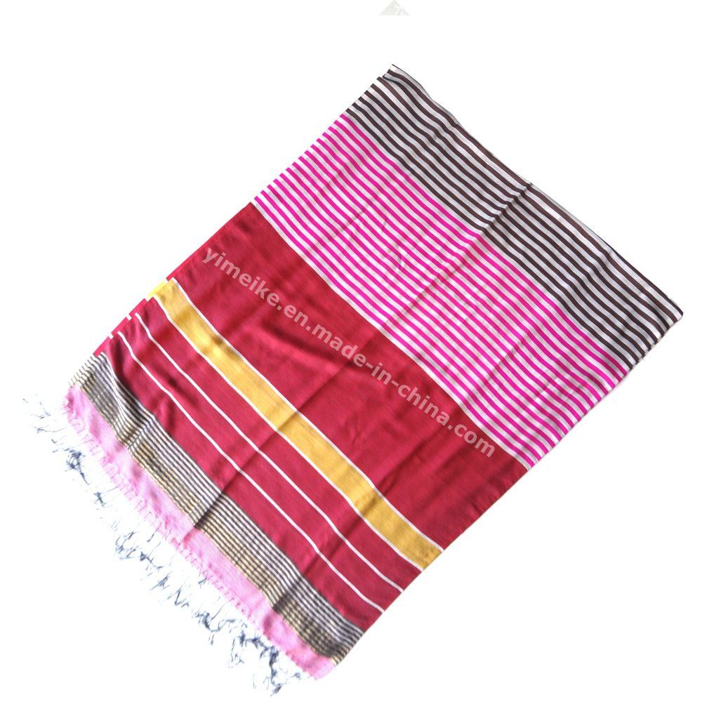 Popular Lady′s Silk Scarf Multi Designs and Colors in Stock