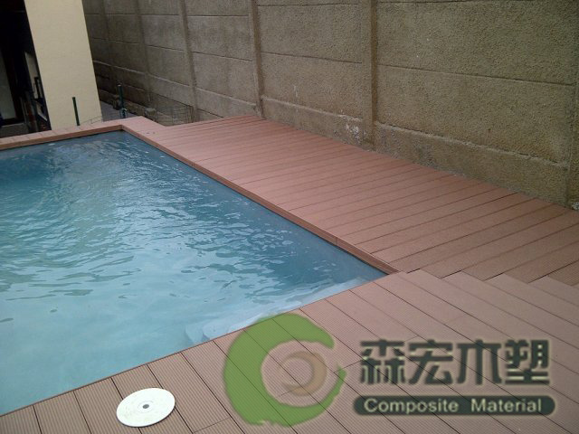 China wpc decking plastic wood decking wood plastic for Swimming pool flooring materials