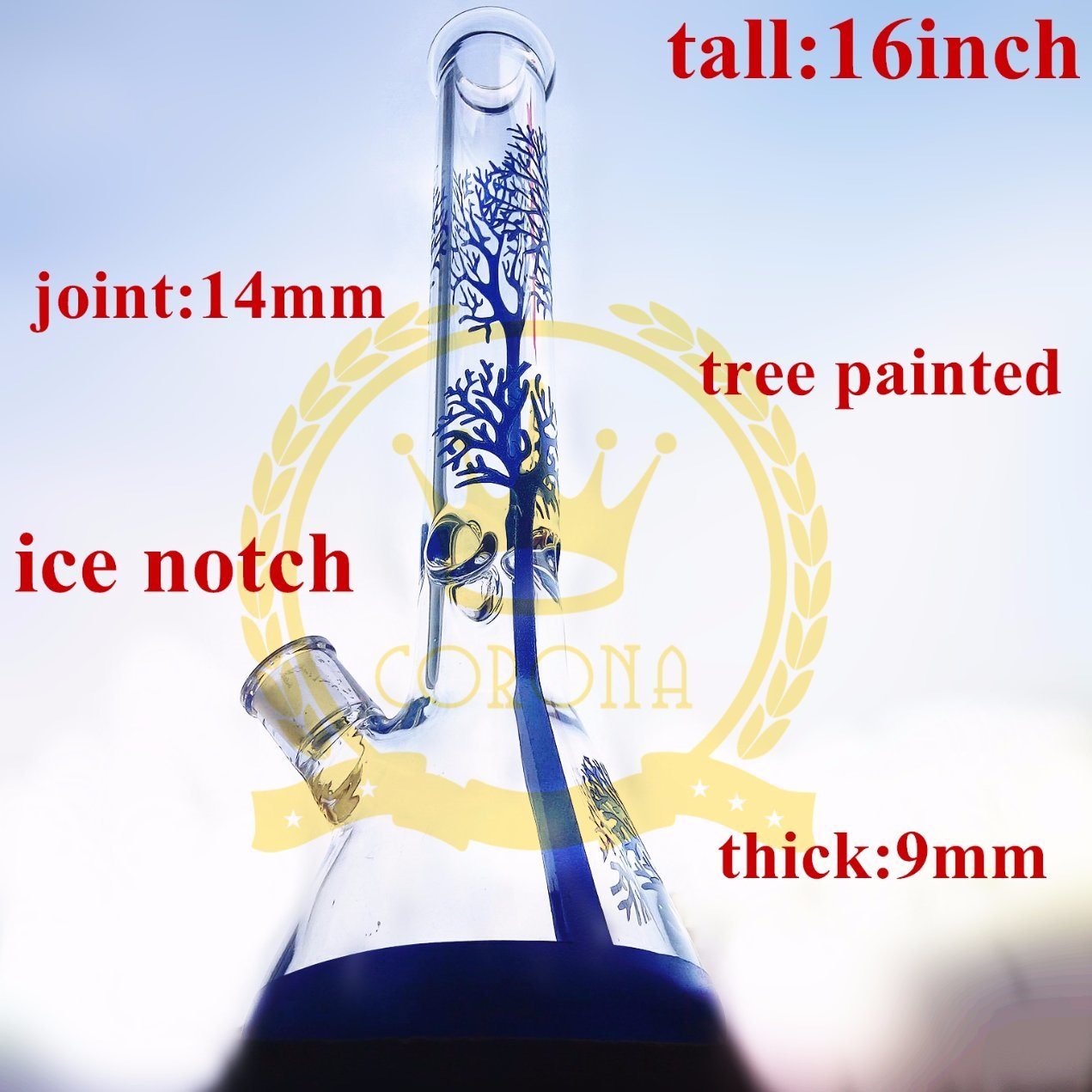 Clear Thick Made of Glass Water Pipe for Smoking Small Oil Rig Glass Recycler Tobacco Tall Color Water Pipe