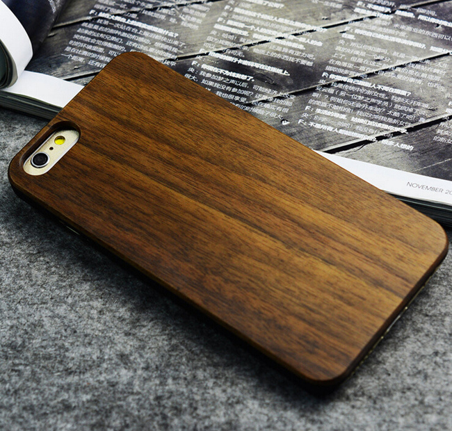 Custom Blank Wood Phone Case for iPhone 6s/6 Plus Bamboo Cell Phone Case