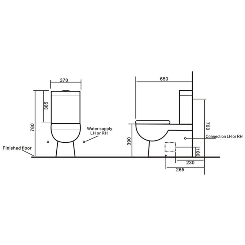Watermark Sanitary Wares Washdown Bathroom Wc Ceramic Toilet