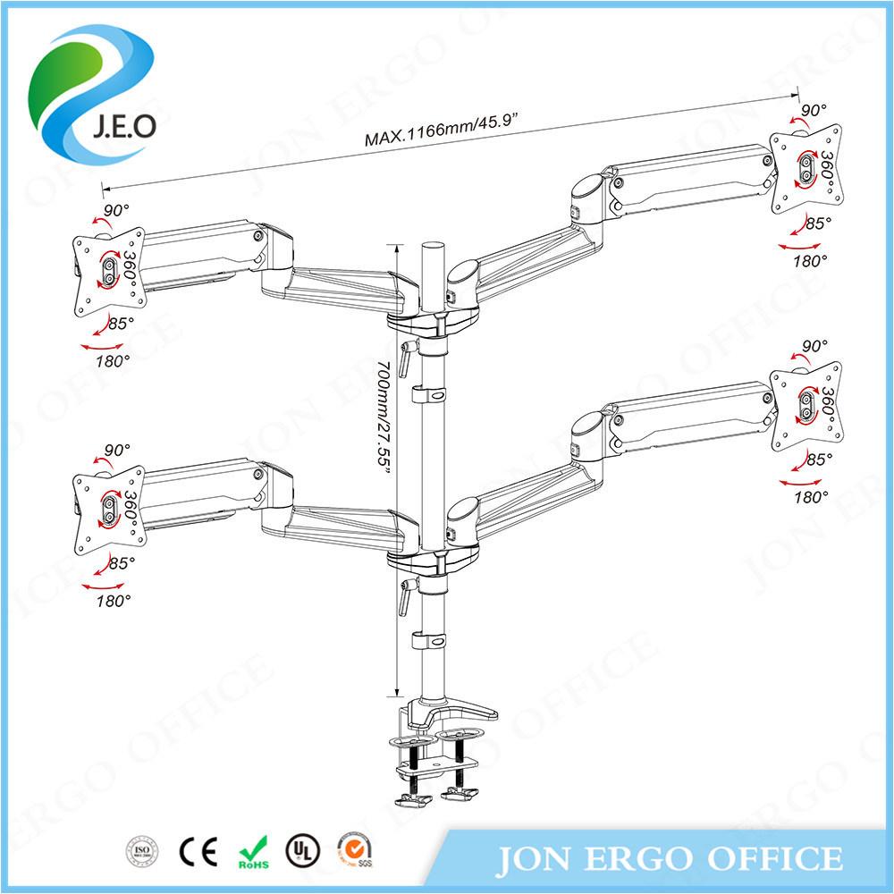 """Multi Monitor Mount for 10 to 27"""" Screen (JN-GA48U)"""