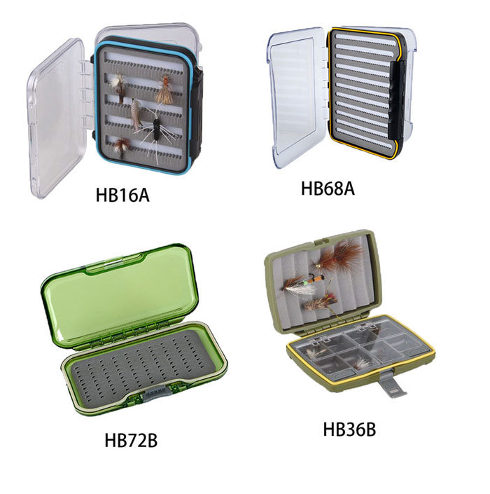 Popular Clear Box Waterproof Fly Box Plastic Material Fishing Box