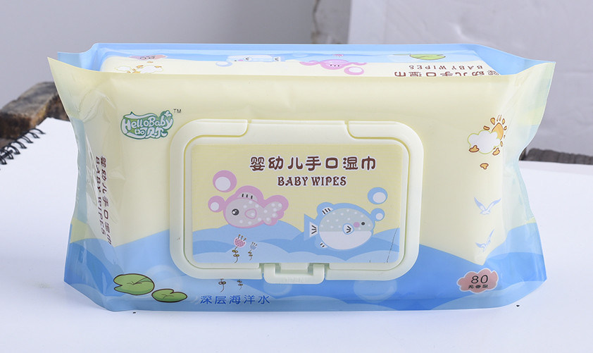 80PCS Skin Cleaning and Care Sterilization Anti Mosquito Baby Wipes