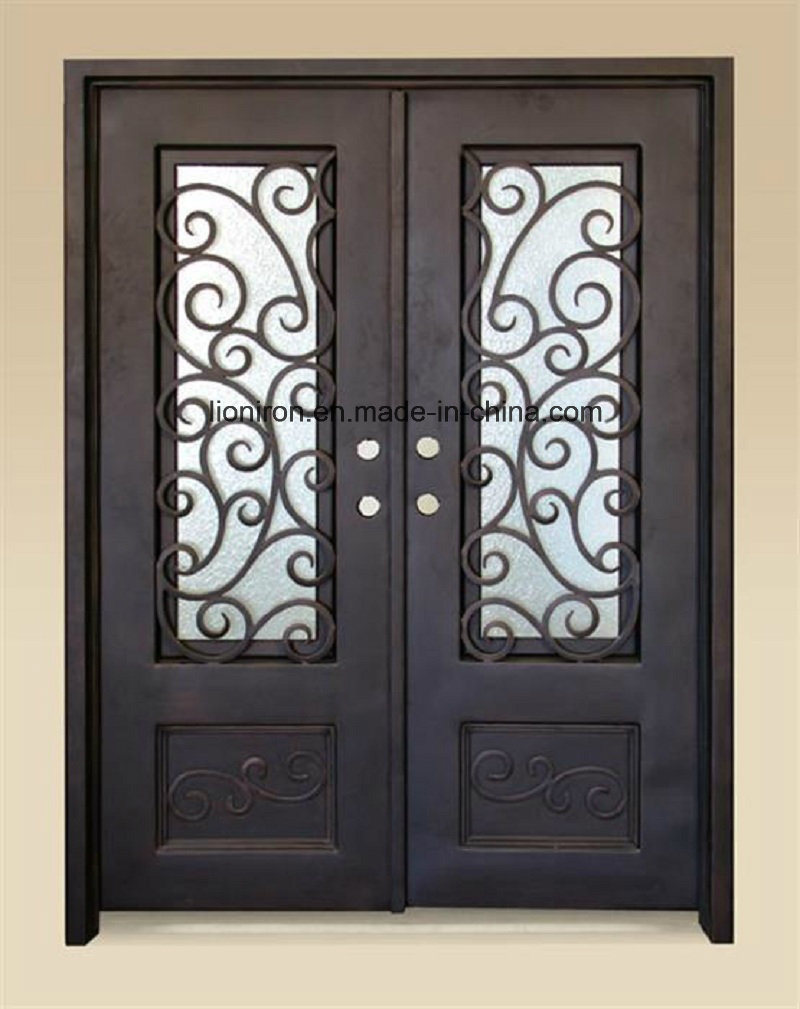 Hand-Crafted Security Wrought Iron Front Doors for House