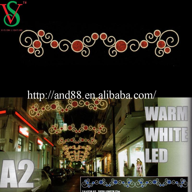 24V/110V/220V Voltage Outdoor Holiday LED Street Motif Light Decoration