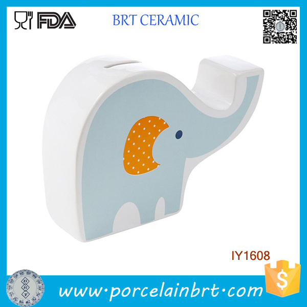 Lovely Cute Decoration Elephant Ceramic Coin Bank