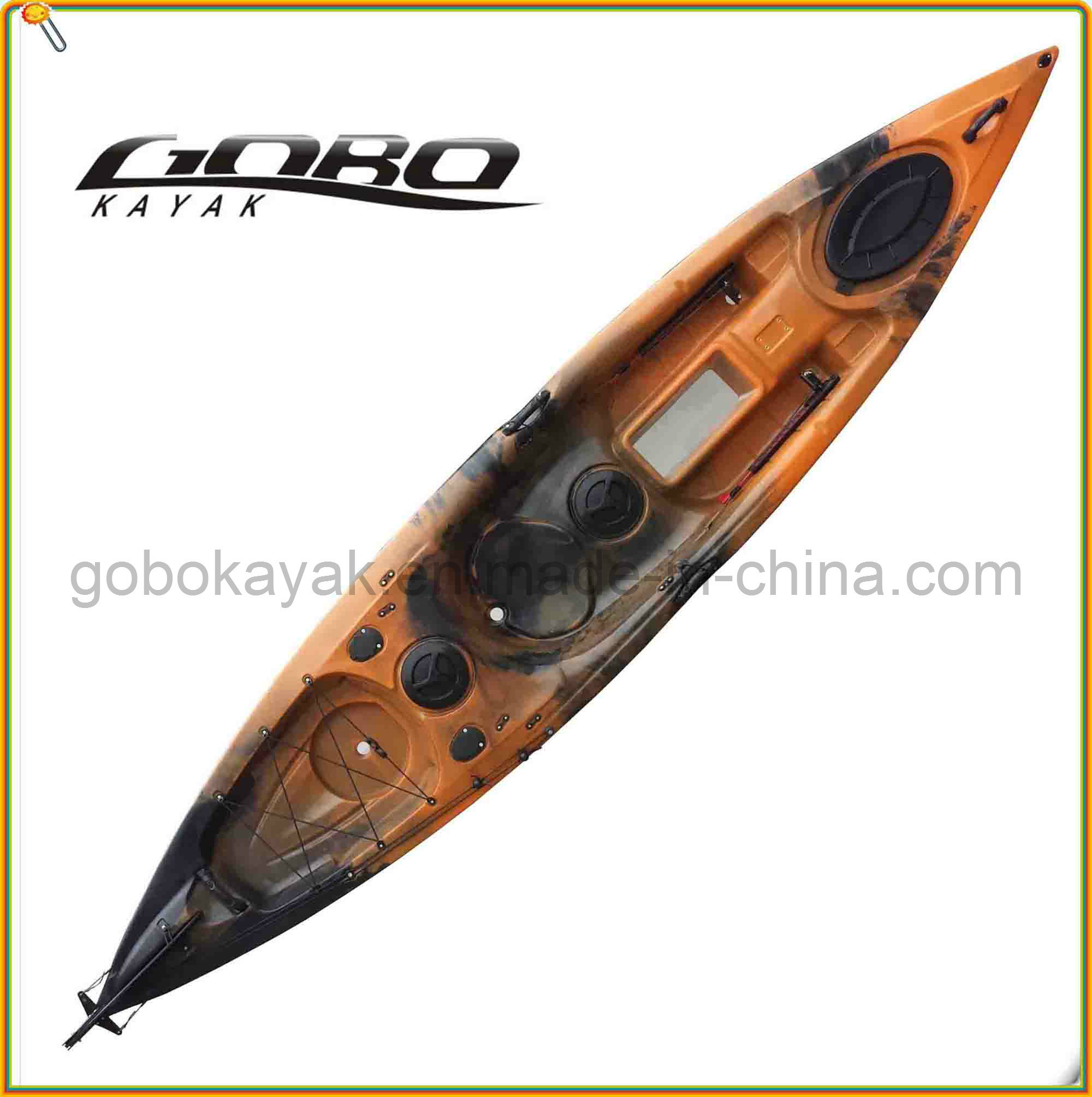 Polyethylene Single Fishing Kayak with Paddle &Pedal