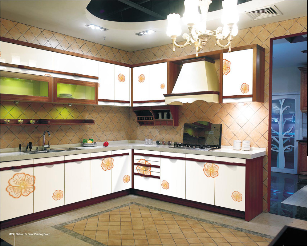Color kitchen cabinets for Latest kitchen cabinet design