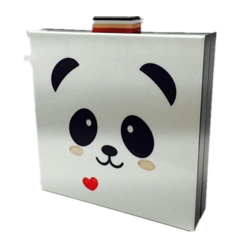 Panda Cartoon Handbag Fashion Women clutch Cute Eveningbag