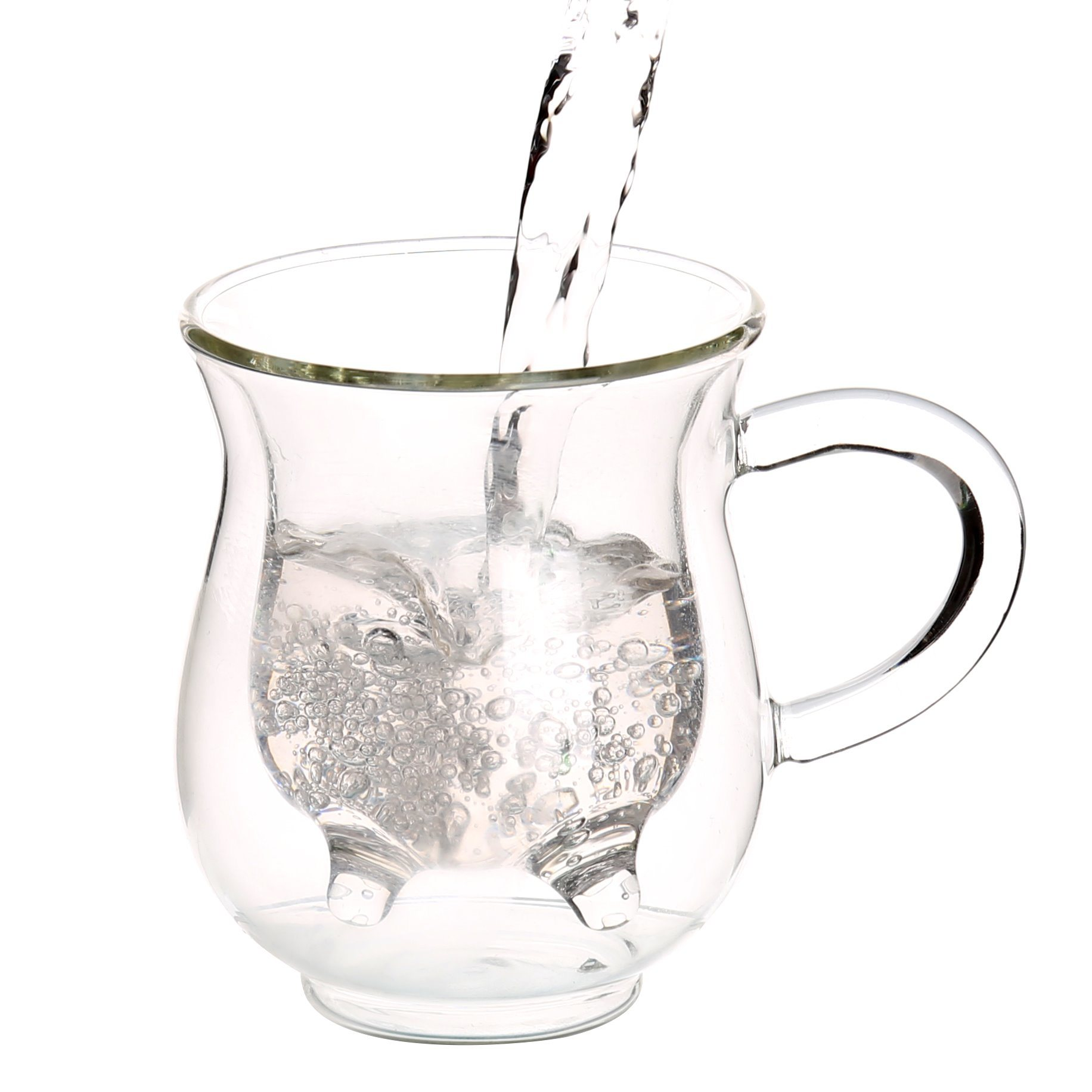 Double Wall Glass Milk Mug