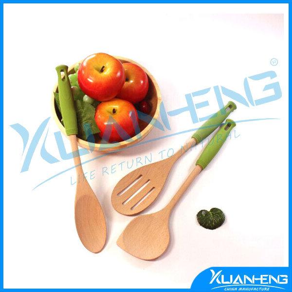 Wood Round Spoons Utensil Wooden Kitchenware