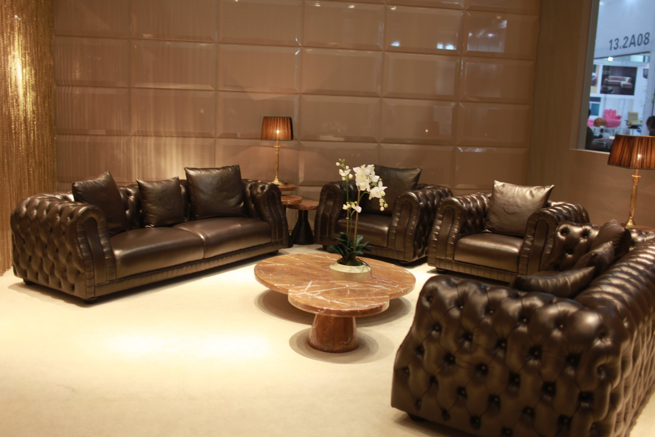 Living Room Modern Furniture Leather Sofa