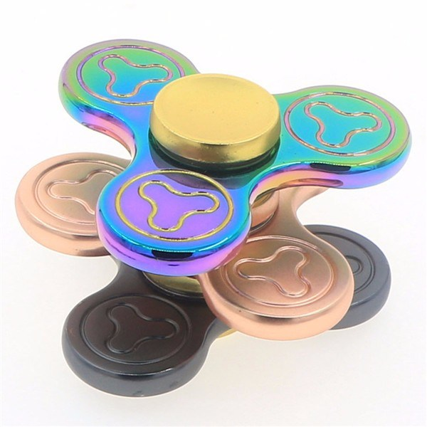 5 Minutes Tri Finger Spinner with Rainbow Color