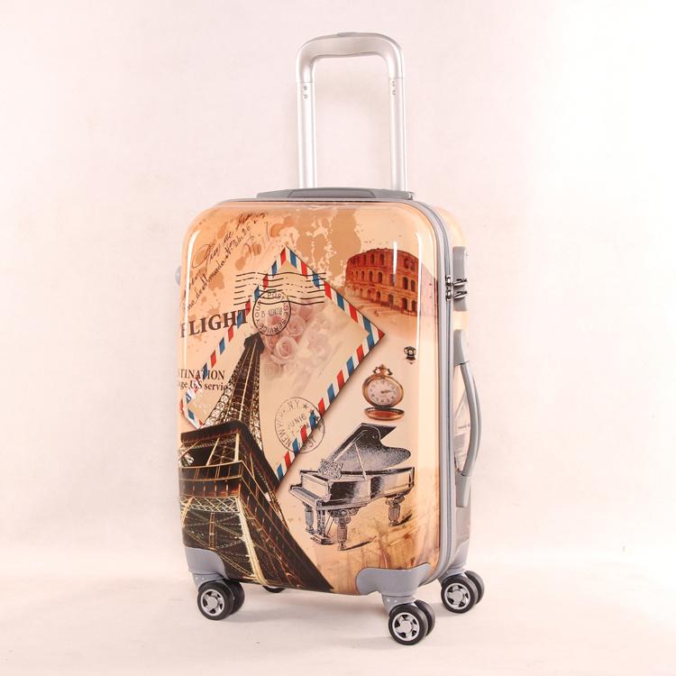 Luggage 2016 Eiffel Tower Suitcase, Customized Printing Trolley Luggage Bag