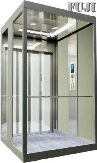 Villa Elevator / Lift with Transparent Glass Car Wall