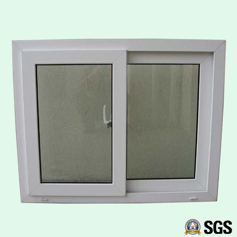 Good Quality White Colour UPVC Profile Sliding Window, UPVC Window, Window K02010
