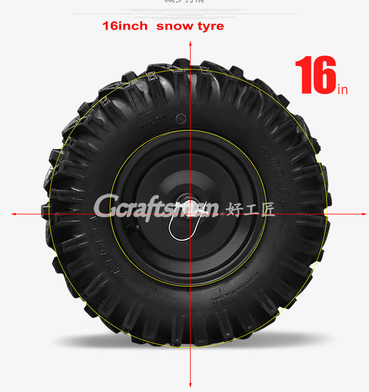 """15HP 34"""" LED Head Light Hot Selling Chain Drive Snow Blower"""