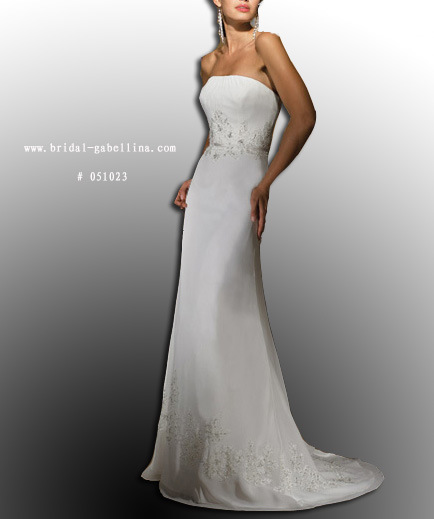 slim wedding dresses