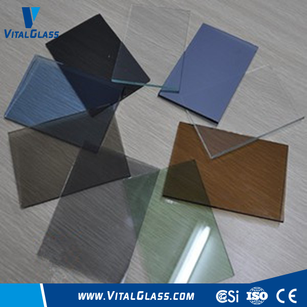 Tinted/Bronze/Blue/Green/Grey/Pink Float Glass with CE&ISO9001