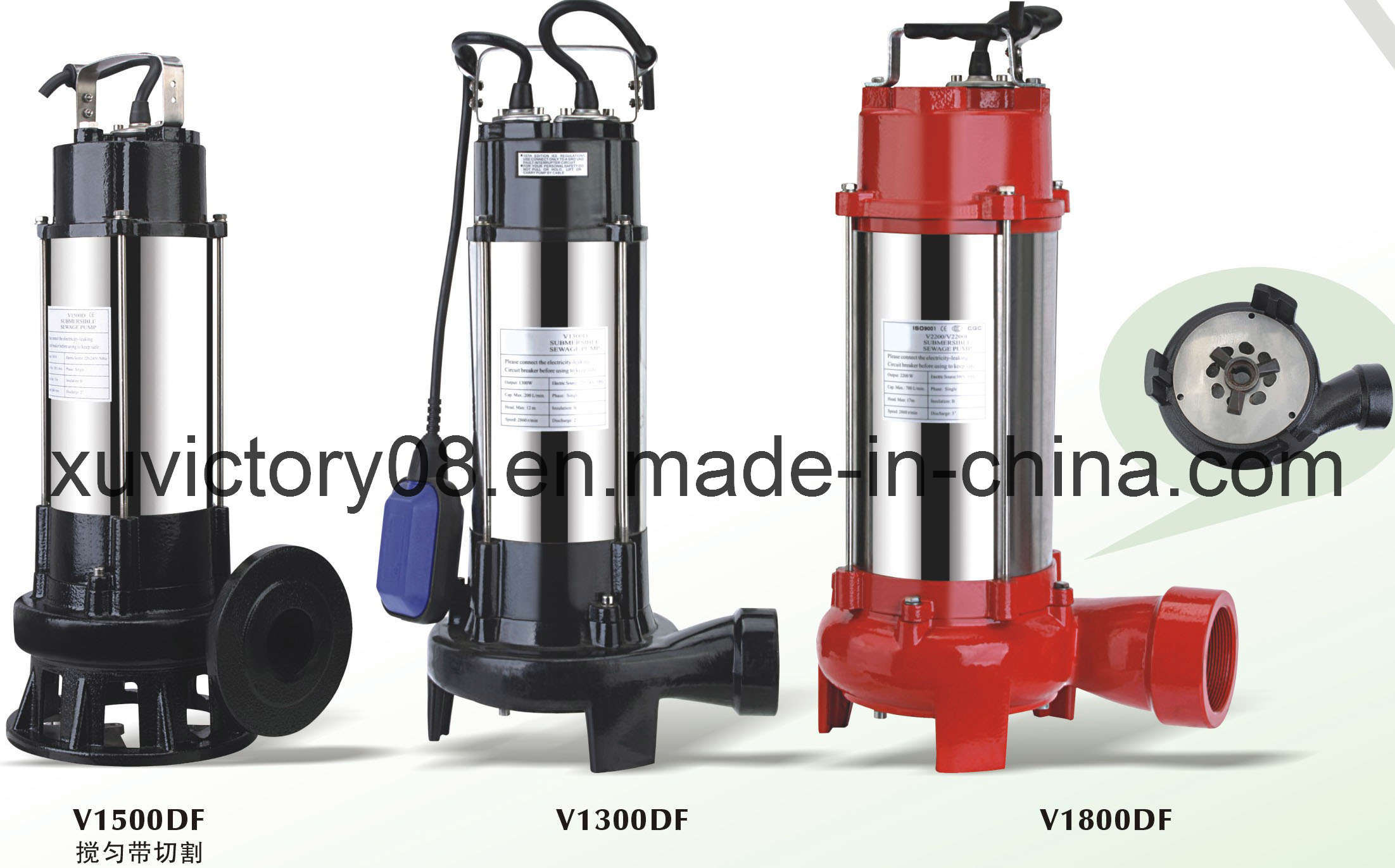 High Qualit Stainless Steel Sewage Cutting Pump (V1800F)