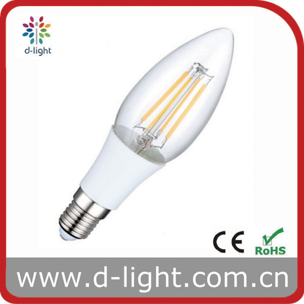 4W E14 Plastic Candle LED Filament Bulb Lamp