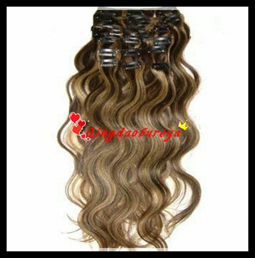 Raw Material Indian Remy Human Clips Hair Extension (BWHT-265)