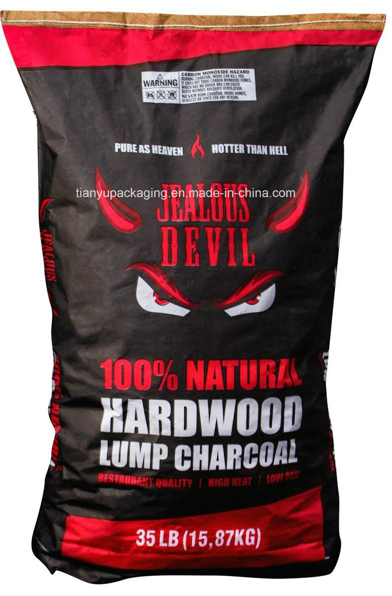 Kraft Paper Bag for Hardwood Lump Charcoal