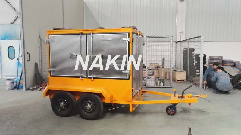 Mobile Type Vacuum Transformer Oil Purifier with Trailer (3000L/H)