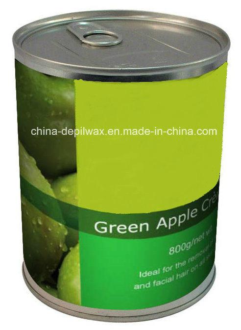 800g Can Soft Depilatory Wax Green Apple Flavor Wax