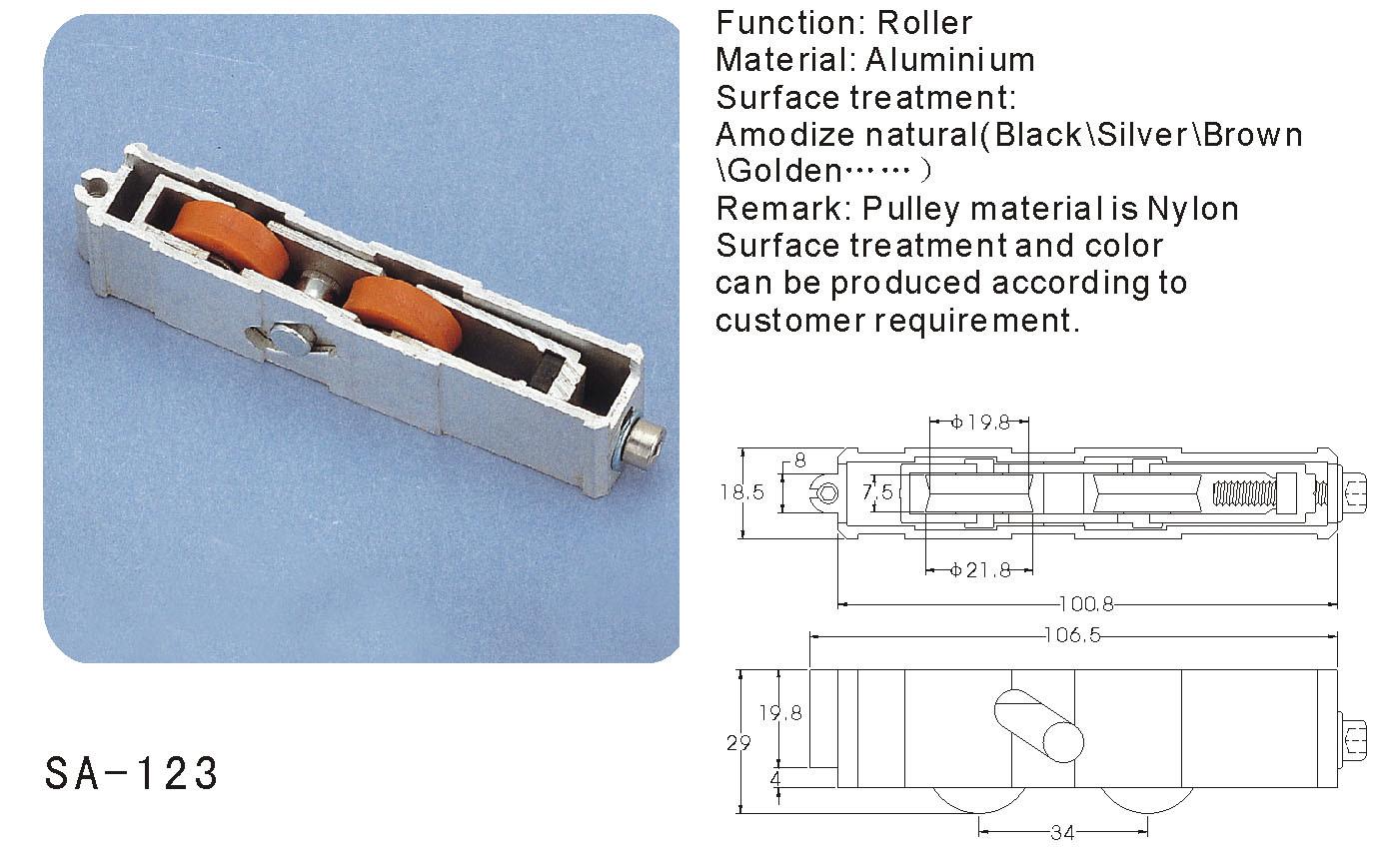 Window and Door Sash Pulley/ Roller (SA-123)
