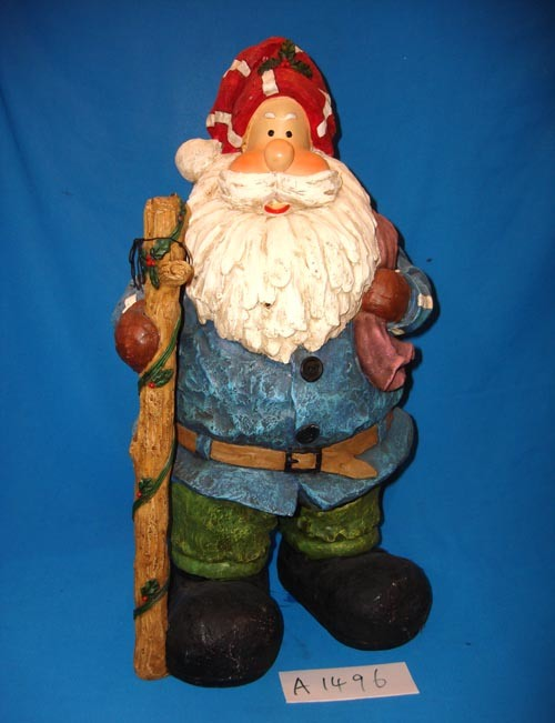 Big Size Hand-Painted Polyresin Santa Claus