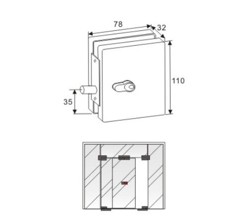 High Quanlity Lock Glass Door Clamp