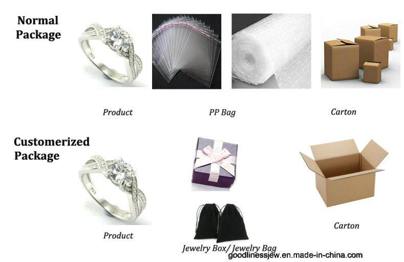 2017 New Design Crystal Heart Drop Earrings for Women (E6858)