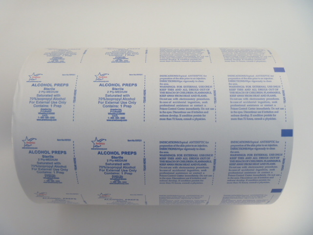 73GSM 400mm Width Aluminium Foil Film (Paper) for Alcohol Swab