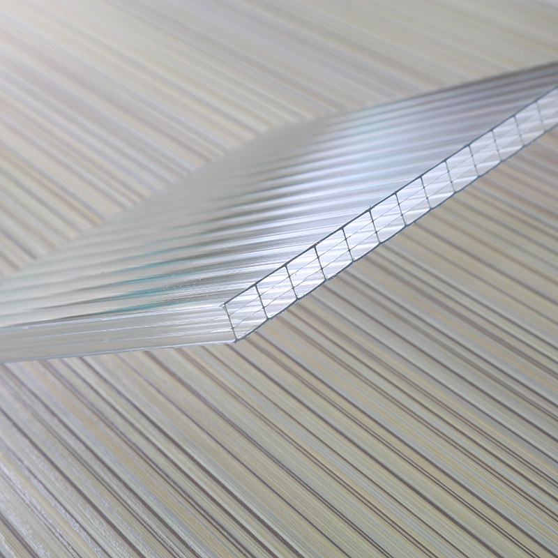 SGS Approved Hollow Polycarbonate Sheet UV Coated for Roofing