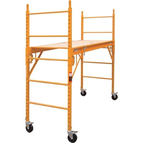 6FT 1000lb. Capacity Multipurpose Rolling Steel Adjustable Indoor Scaffolding